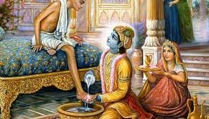 அன்போடு அவல் கொடுத்த குசேலரை செல்வந்தராக்கிய ஸ்ரீகிருஷ்ணர்