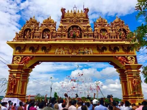 நல்லூர் கந்தசுவாமி கோயிலை அடையாளப்படுத்தும் அலங்கார வளைவு திறக்கப்பட்டது!