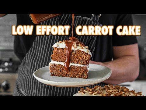 Low Effort Carrot Cake
